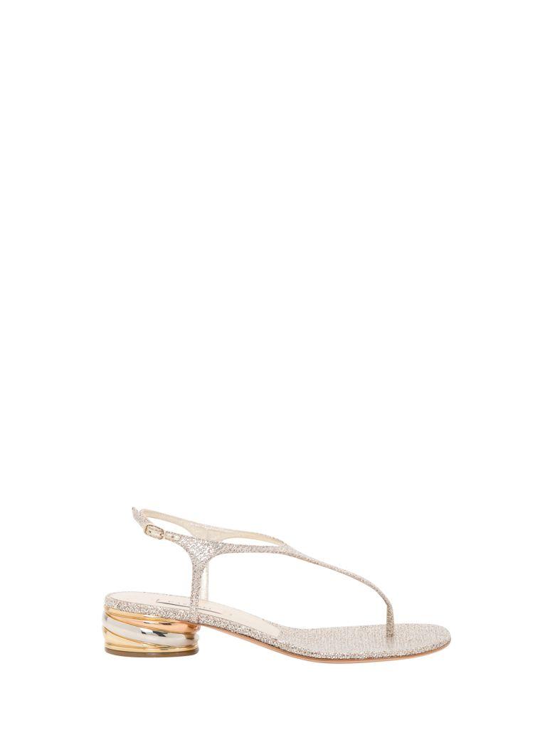 Casadei Glitter Sandals - Platino