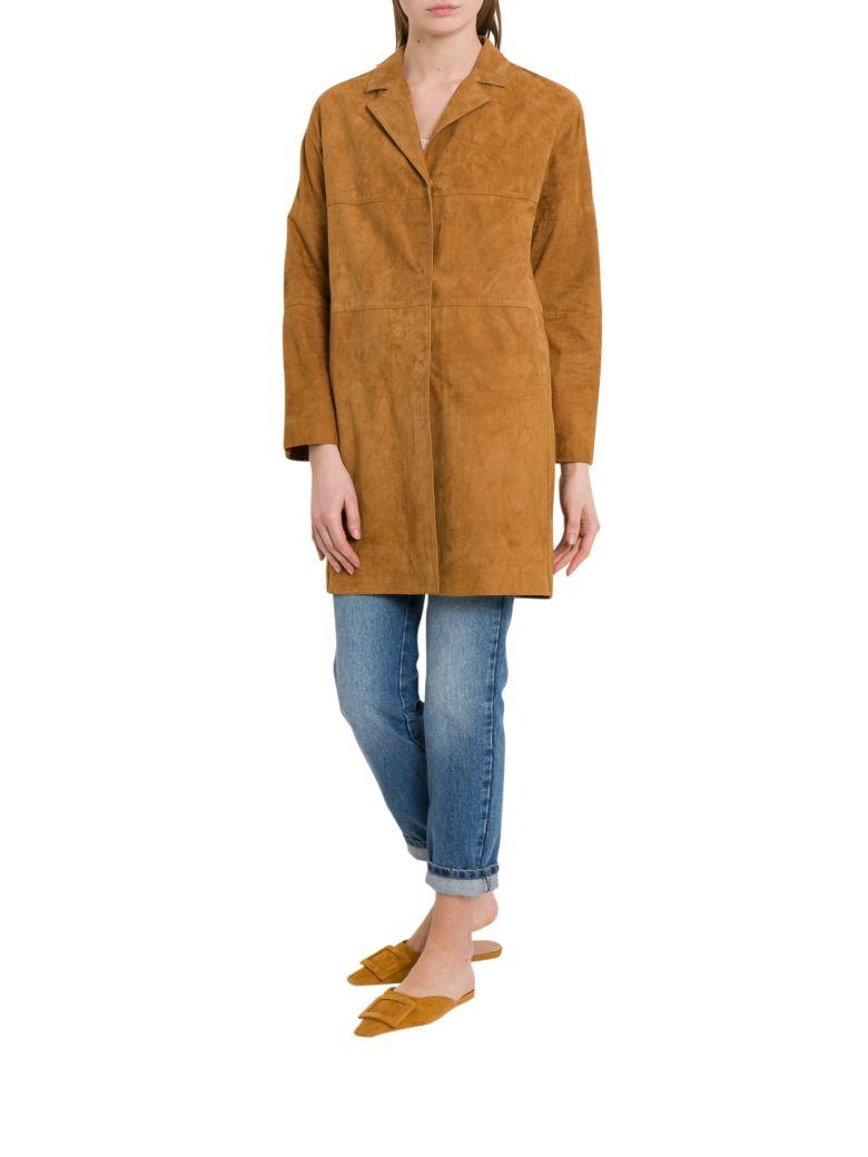 Unfleur Suede Coat - Brown