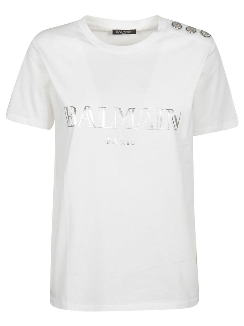 c07c52527 Balmain Balmain Embellished Button T-shirt - Basic - 10877524 | italist