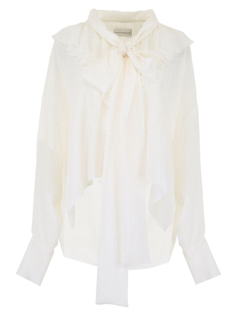 Faith Connexion Ruffled Shirt - OFF WHITE (White)