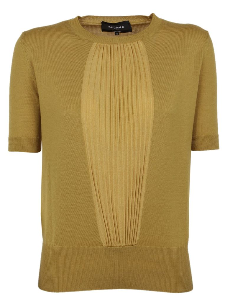 Rochas Short Sleeved Sweater - Saffron