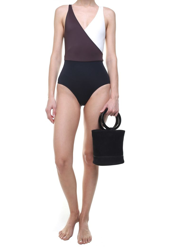 Solid & Striped The Ballerina Colorblocked Swimsuit - Basic