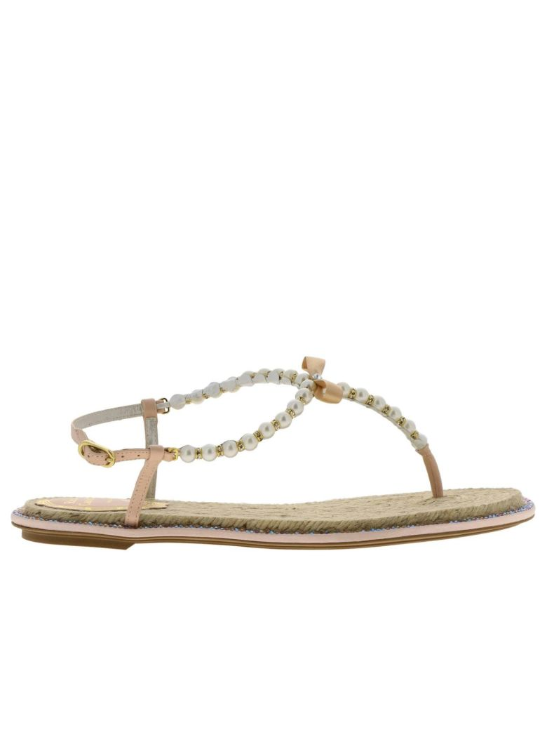 René Caovilla Rene Caovilla Flat Sandals Shoes Women Rene Caovilla - Pink