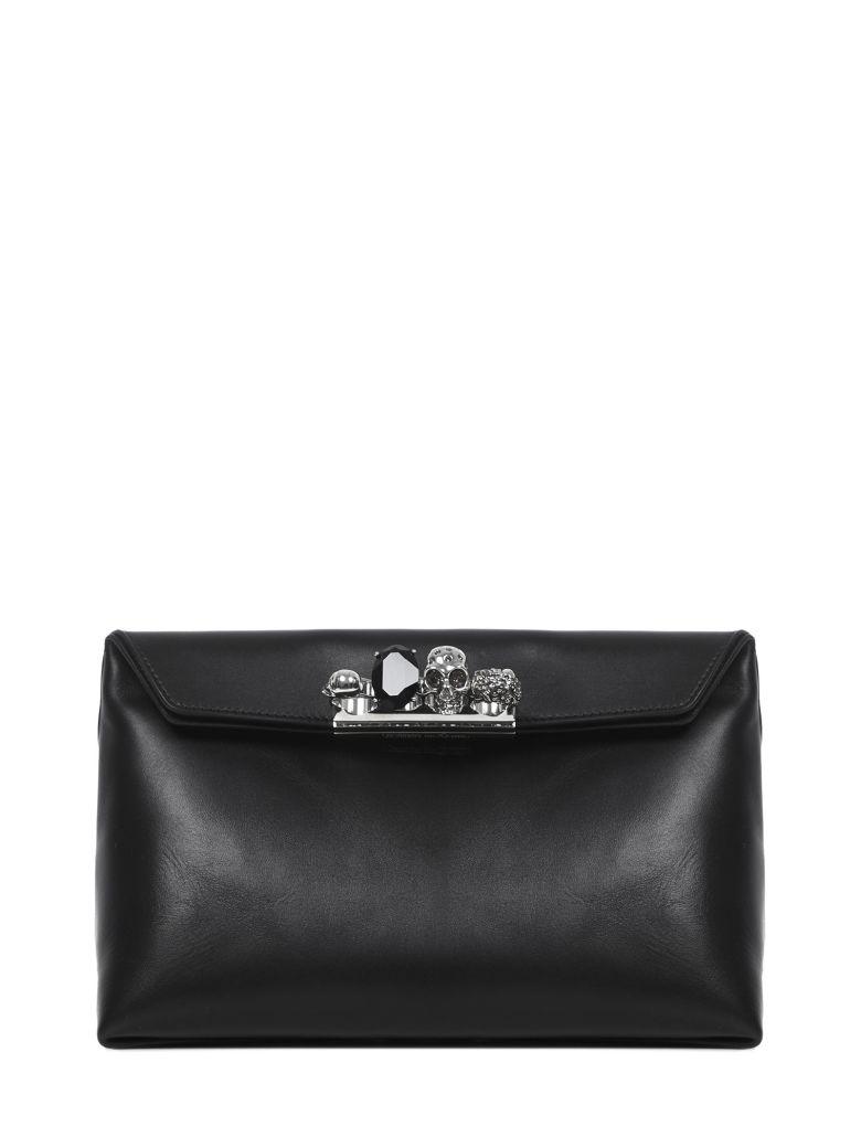 Alexander McQueen Skull Clutch - Black