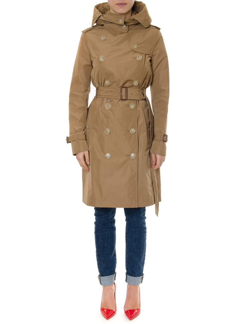 Burberry Kensigton Camel Color Trench Coat - Camel