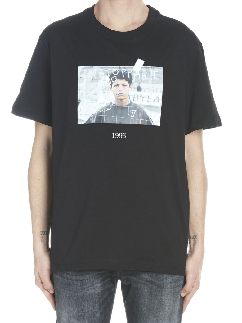 Throw Back 'young Cristiano Ronaldo' T-shirt - Black