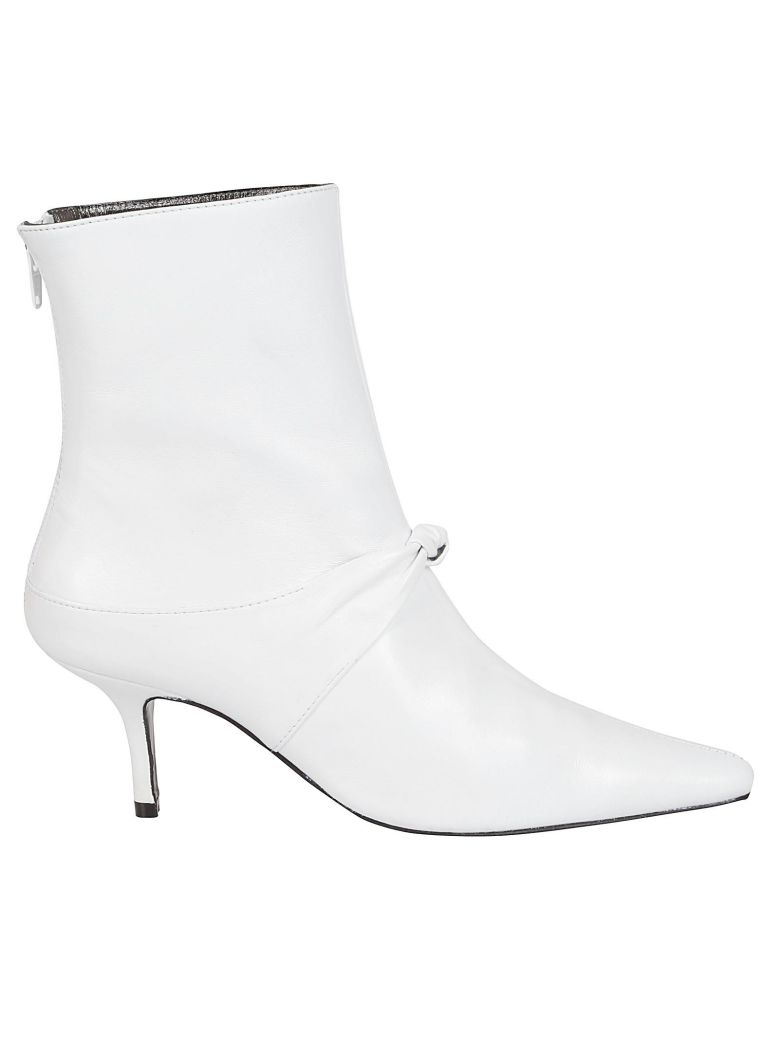 Dorateymur Dorateymur Pointed Toe Ankle Boots - White