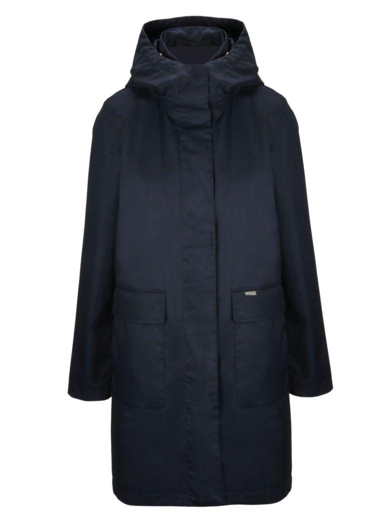 Woolrich Zipped Long Jacket - Dark Navy