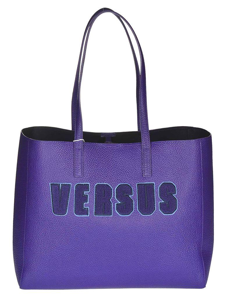 Versus Versace Logo Patch Tote - PURPLE