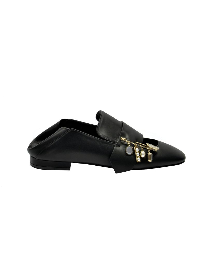 Coliac Cut-out Loafers - Black