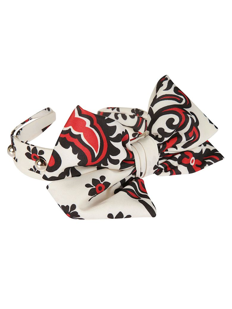 RED Valentino Large Bow Headband - red