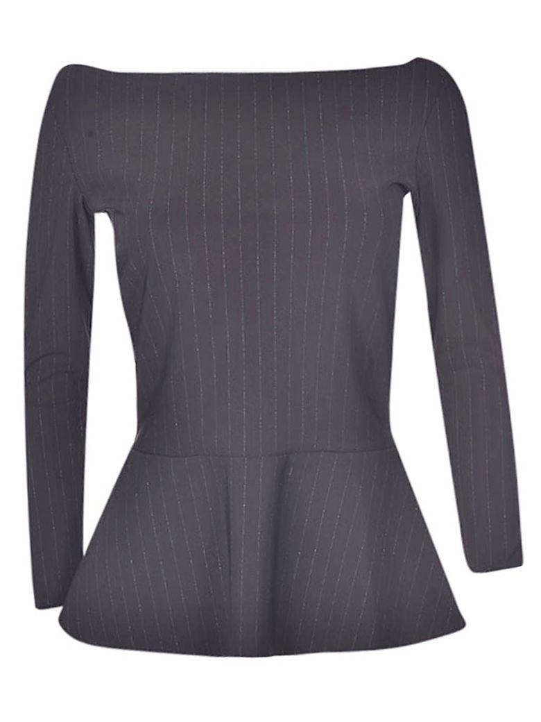 La Petit Robe Di Chiara Boni Pinstriped Top - Black