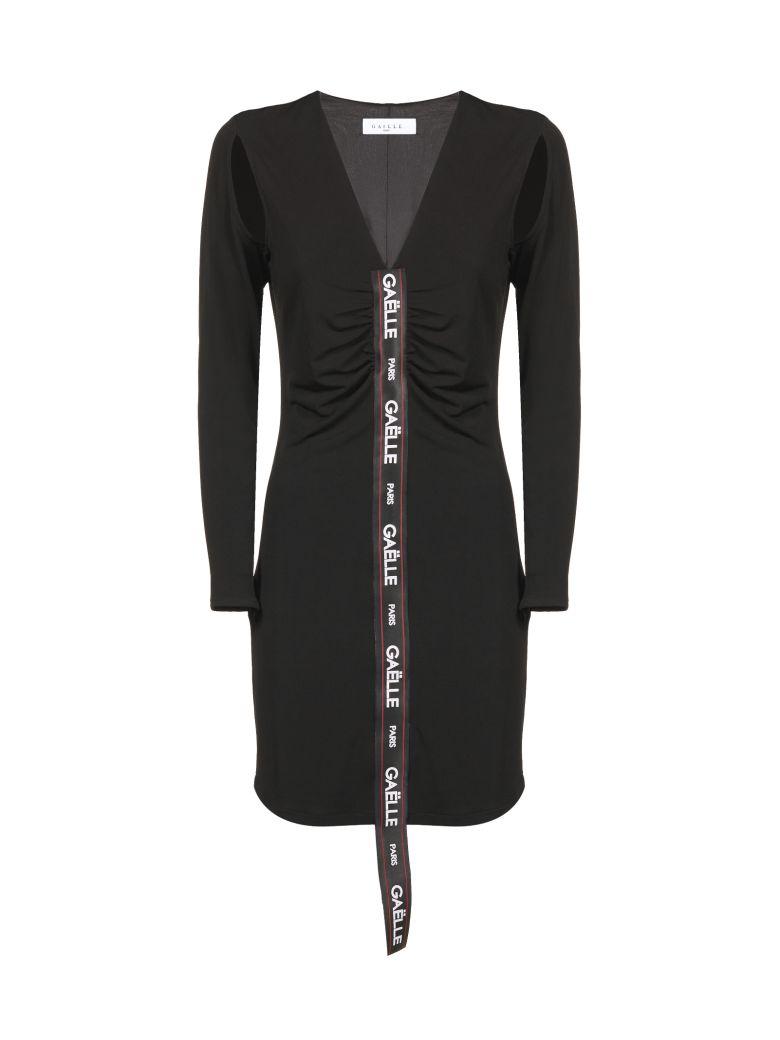 Gaelle Bonheur Logo Mini Dress - Nero bianco rosso