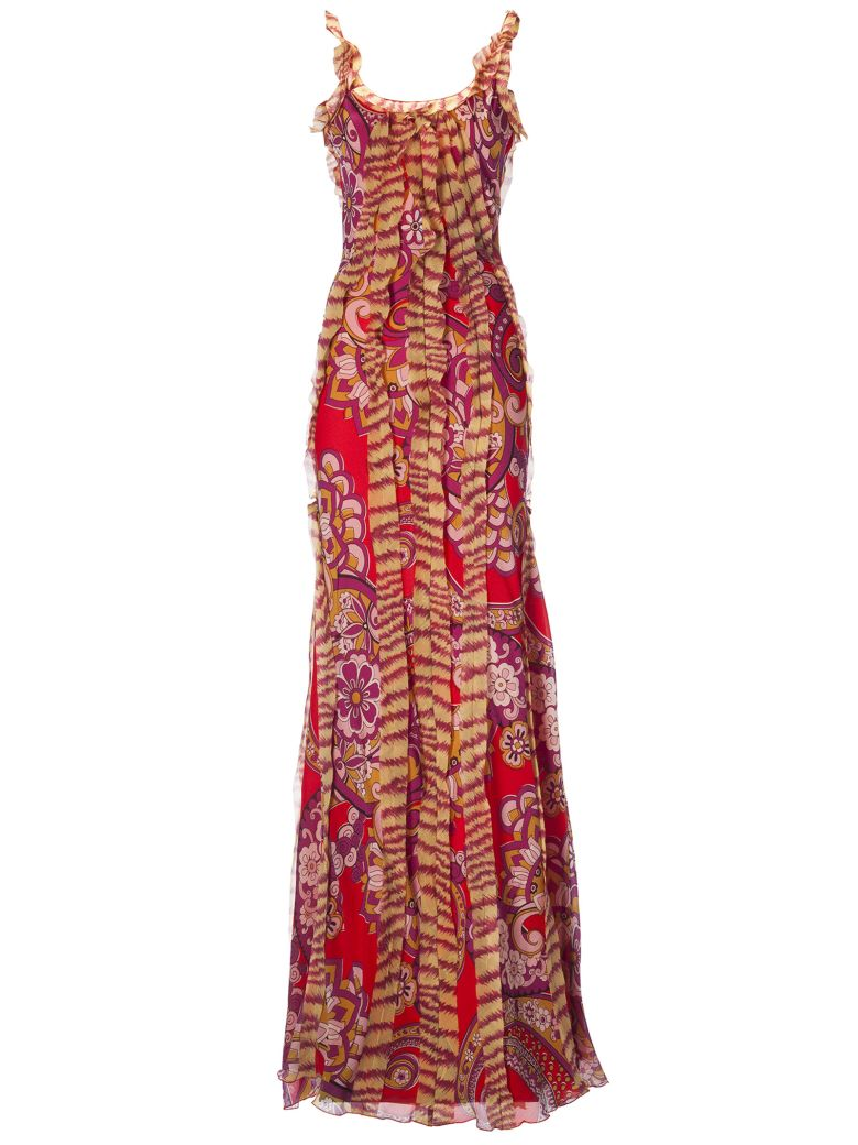 Etro Floral Printed Maxi Dress - Multicolor