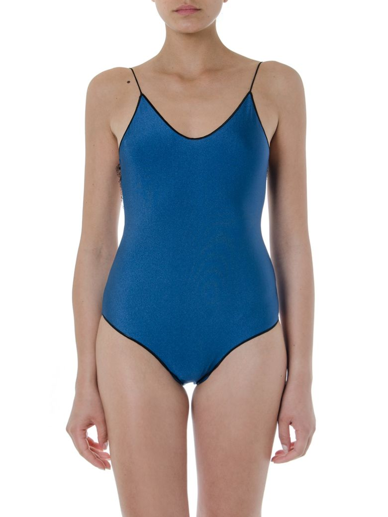 Oseree Blue And Black Travaille Swimsuit - Blue/black