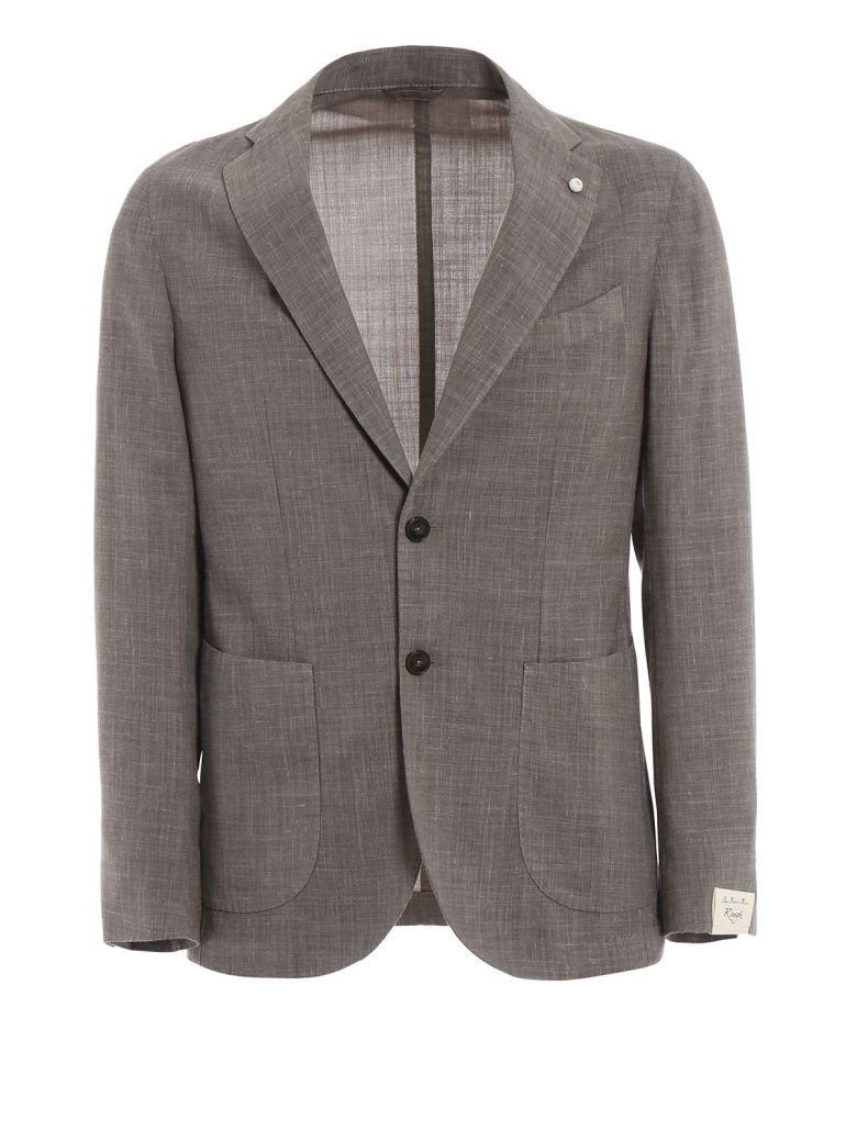 Luigi Bianchi Mantova Classic Blazer - Gray