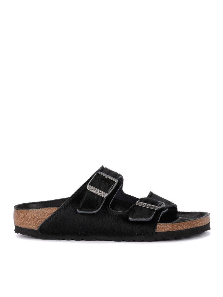 Birkenstock Arizona Black Cow Hair Sandal - Premium - Black