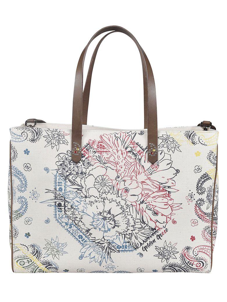 Golden Goose Floral Printed Shopper Bag - Panna/Fantasia