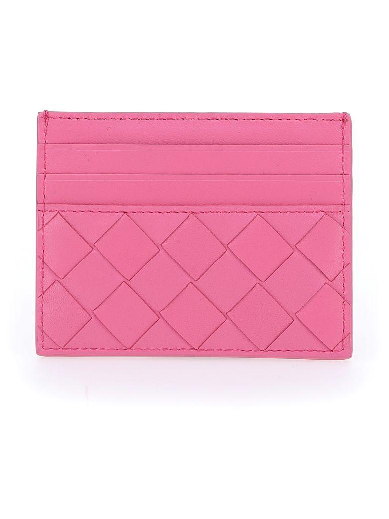 Bottega Veneta Card Holder - Pink/pink/pink-silver