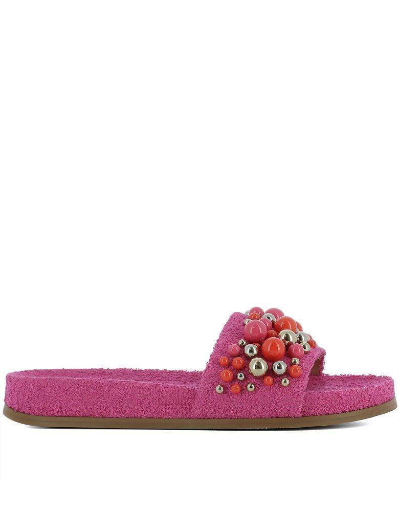 Aquazzura Pink Sponge Sandals - Pink