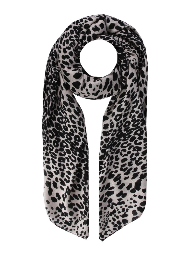 McQ Alexander McQueen Leopard Print Scarf - NERO