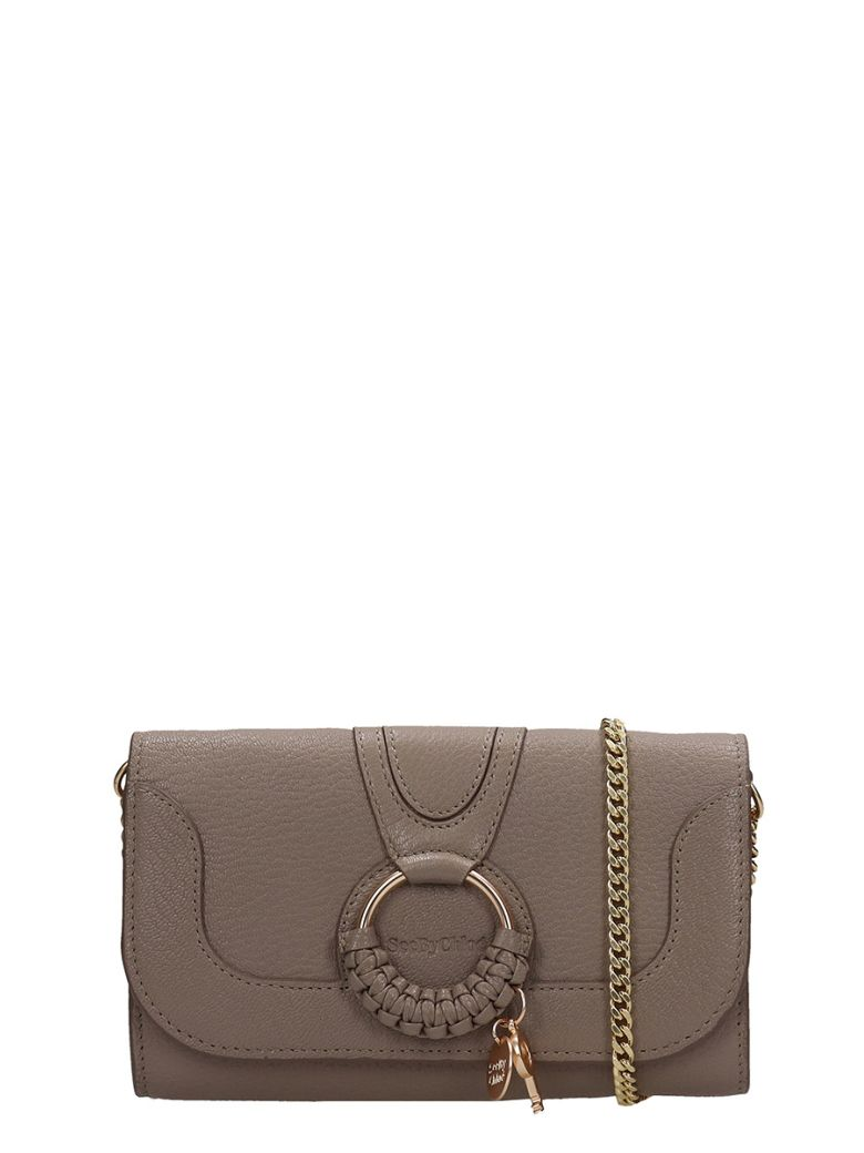 See by Chloé Hana Long Wallet In Grey Leather - grey