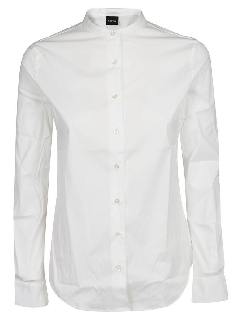 Aspesi Collarless Shirt - Bianco Ottico