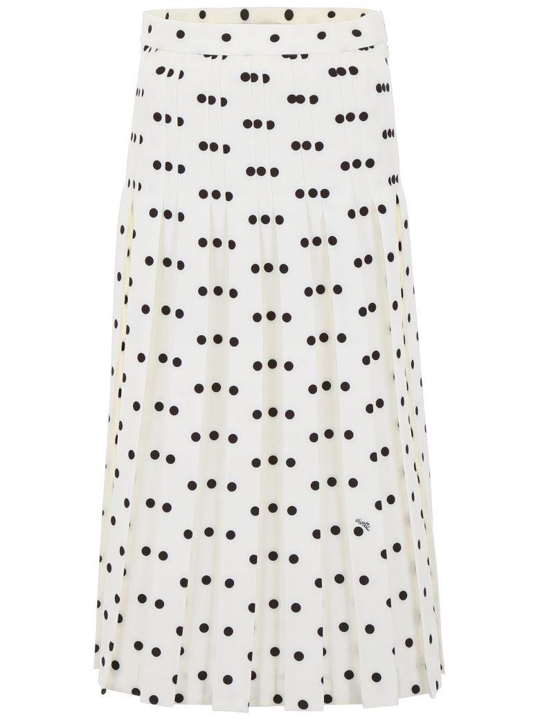 Vivetta Polka Dots Skirt - WHITE BLACK|Bianco