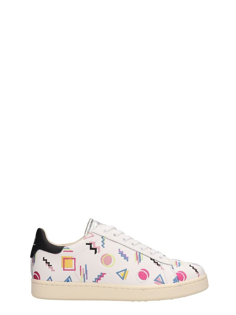 M.O.A. master of arts White Leather Patchwork Sneakers - white