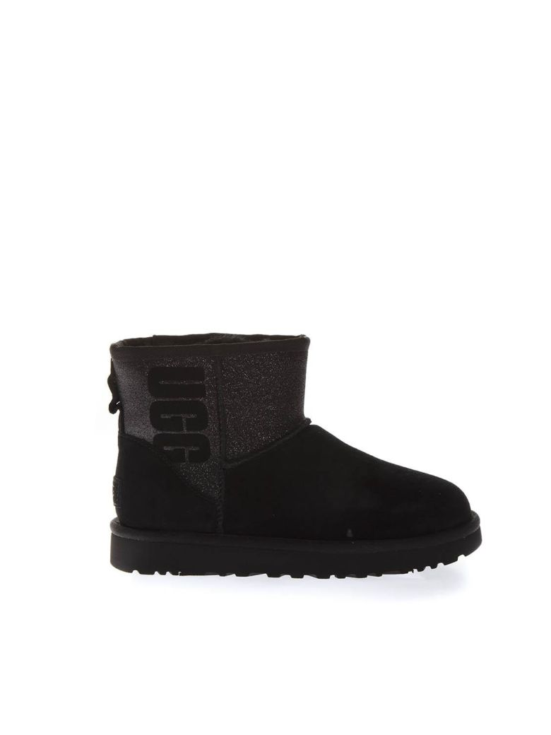 UGG Black Classic Suede Boots - Black