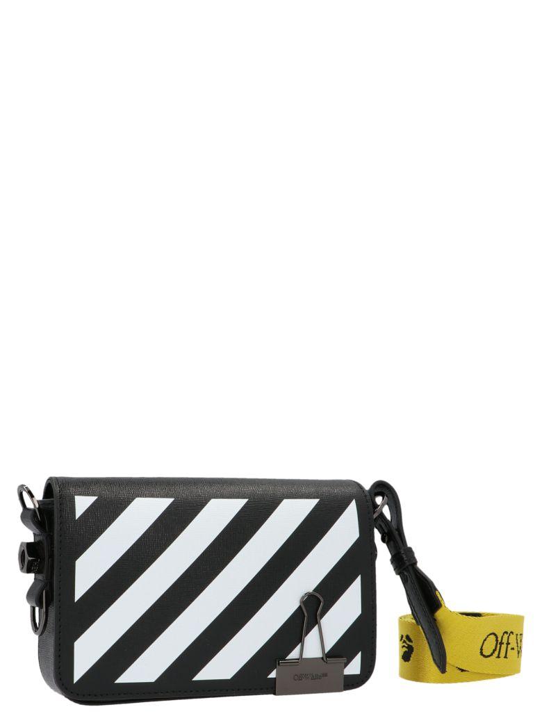 Off-White 'diag Mini Flap' Bag - Black&White