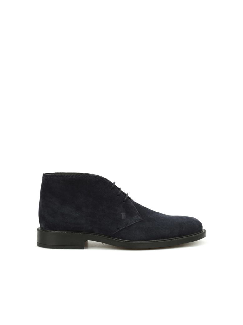 Tod's 45a Suede Desert Boots - Blue