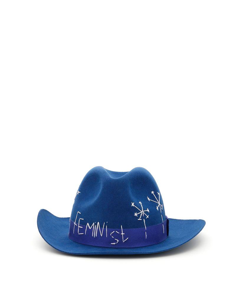 Ruslan Baginskiy Felt Hat - NAVY/BLUE Blu