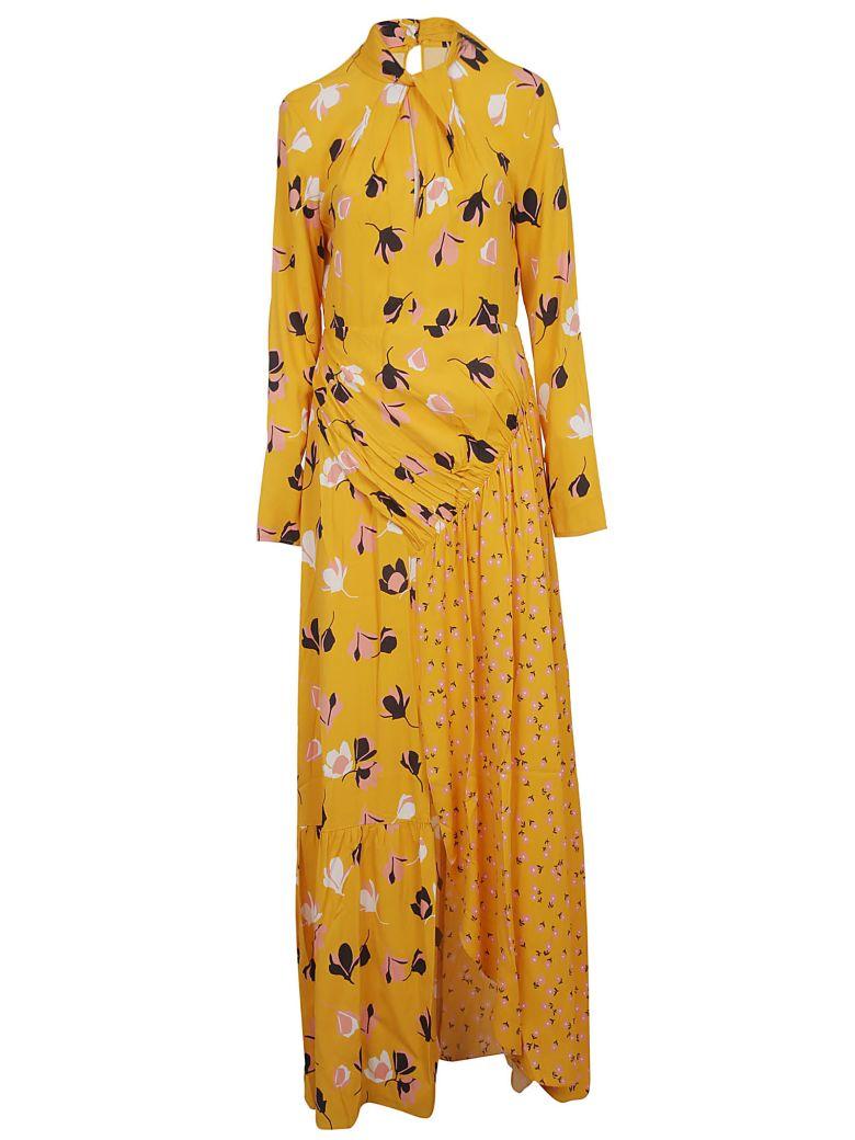 self-portrait Floral Maxi Dress - Yellow