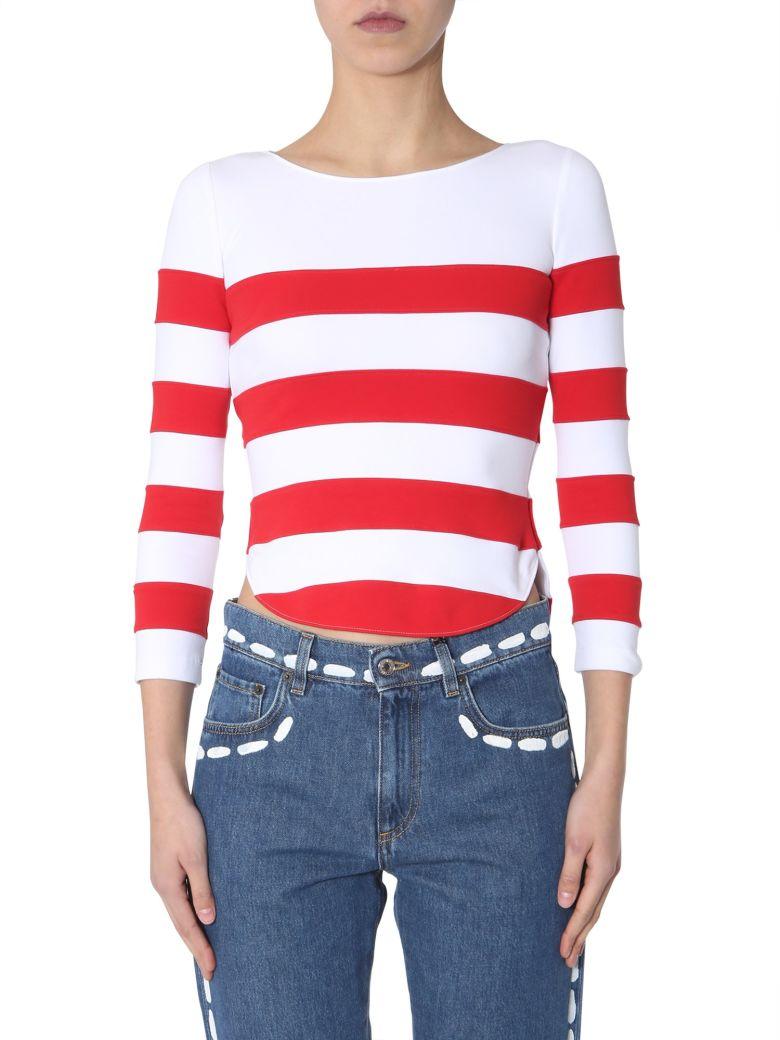 Moschino Striped T-shirt - ROSSO