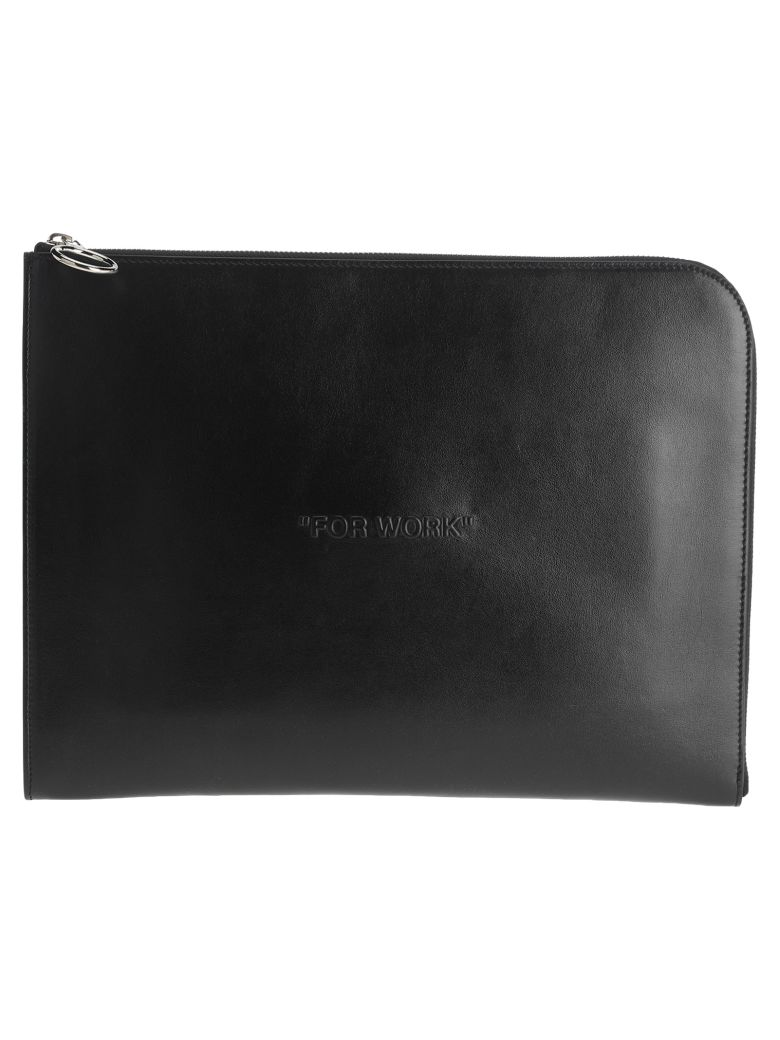"Off-White Off White ""for Work"" Folder Bag - BLACK"