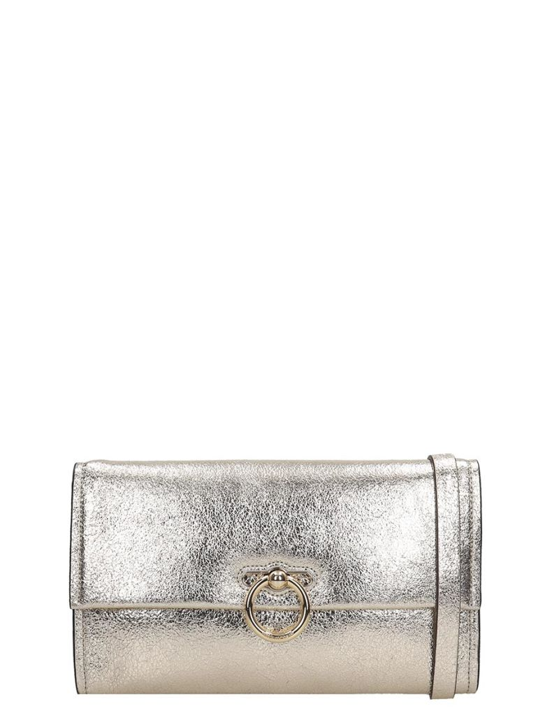 Rebecca Minkoff Jean  Clutch In Gold Leather - gold