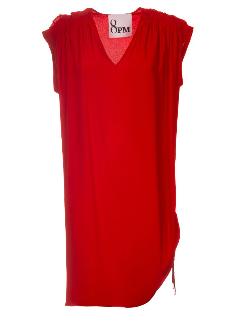 8PM Bardot Dress - Red