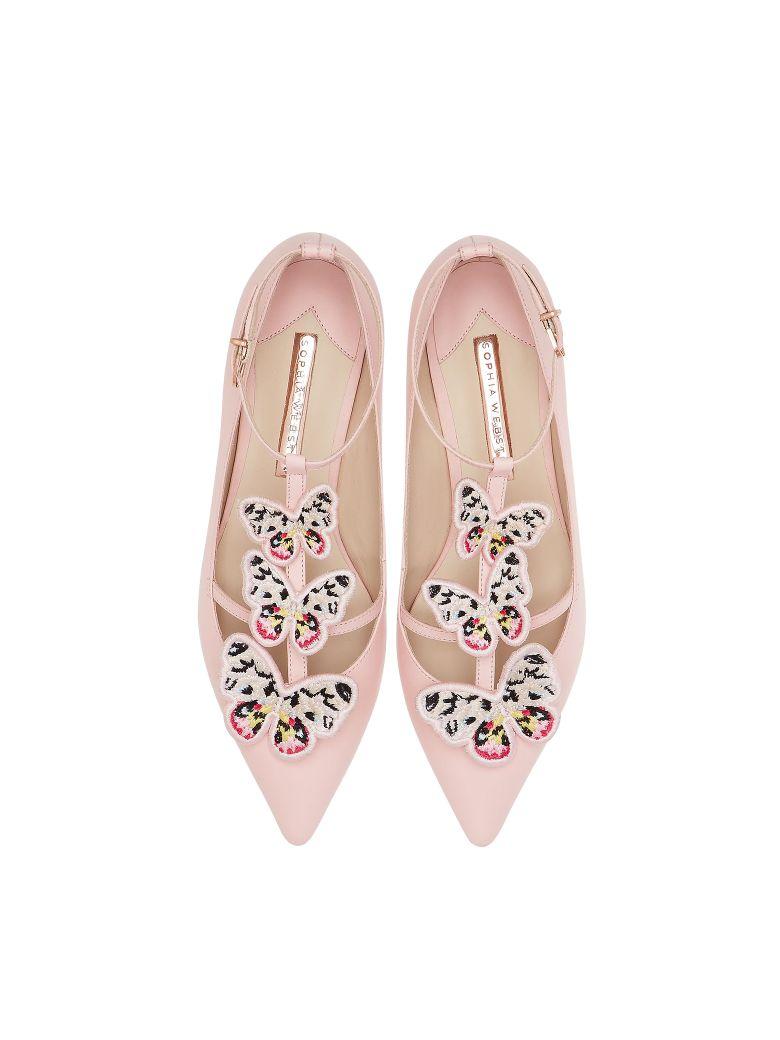Sophia Webster Sophia Pink & Multi Riva Flat Ballerinas - Pink