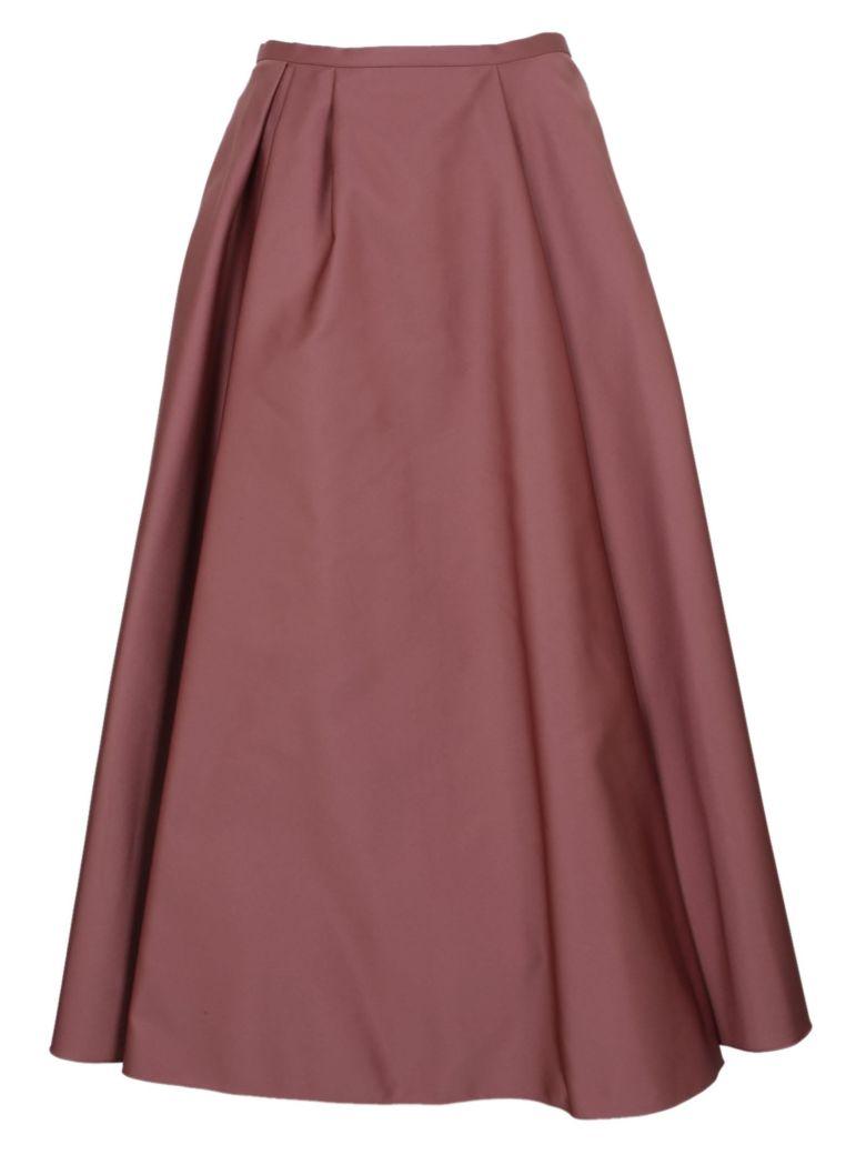 Rochas Satin Pleated Skirt - Pink