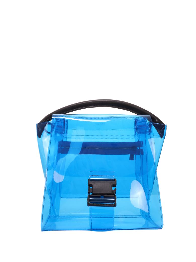 Zucca Blue Pvc Buckled Bag - Blue