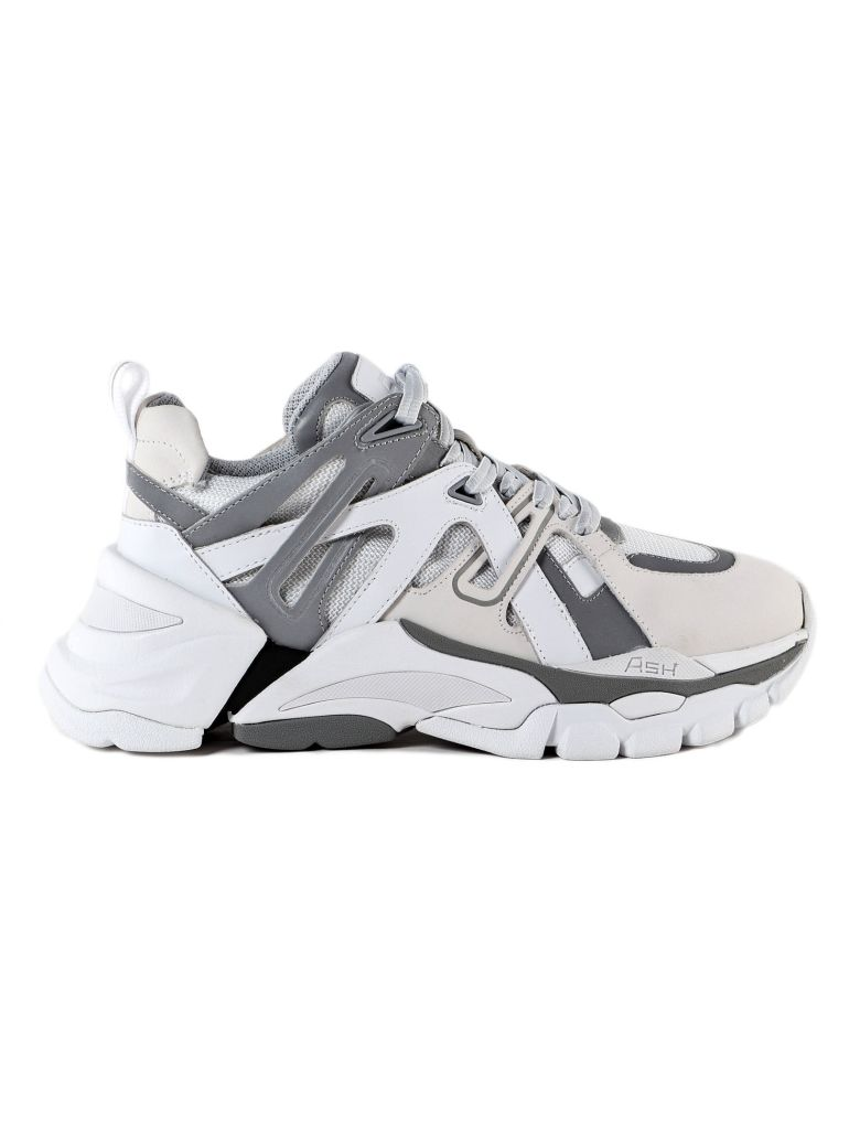 Ash Flash Trekking Sneakers - White/silver