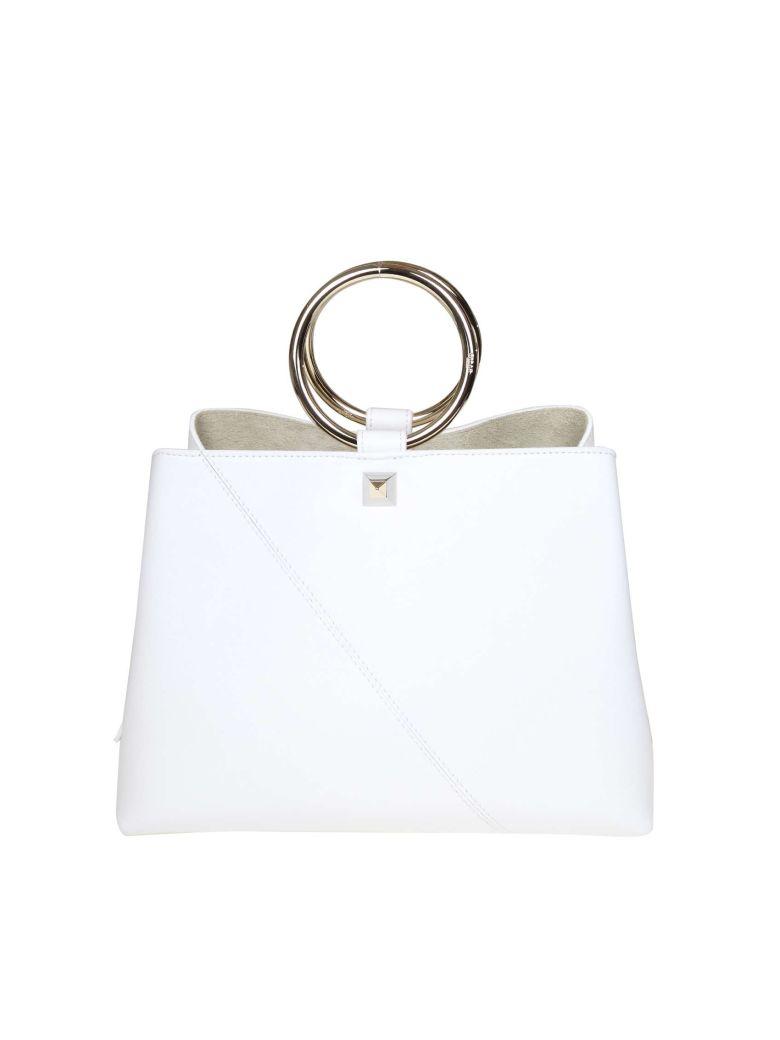 Salar Handbag Polly In White Leather - White