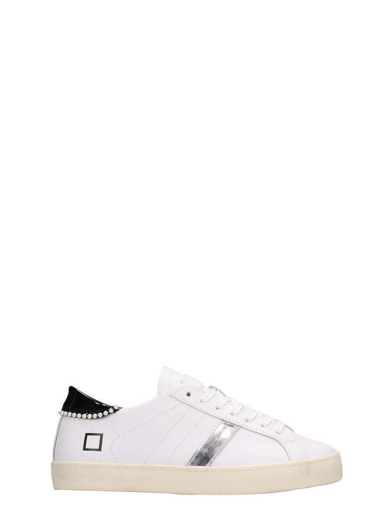 D.A.T.E. White Leather Hill Low Sneakers - White