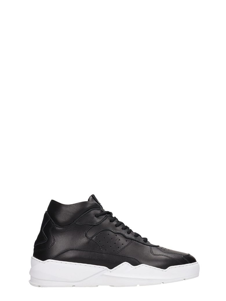 Filling Pieces Black Leather Lay Up Ices Sneakers - Black