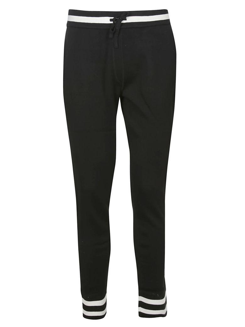 Dolce & Gabbana Contrast Trim Track Pants - Black