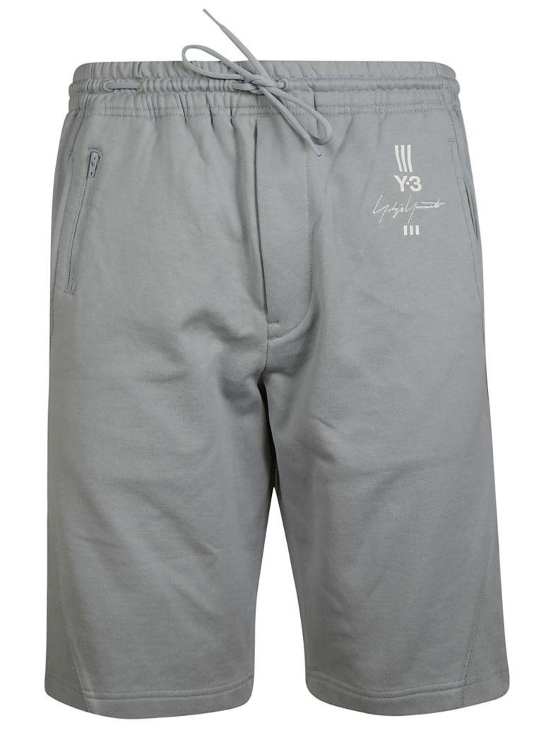 Y-3 Logo Print Shorts - Gray
