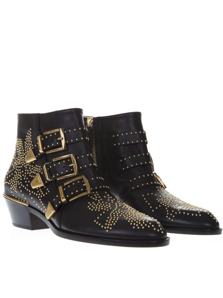 0918bdc99 Chloé Chloé Susanna Black Leather Ankle Boots - Black - 10792978 ...