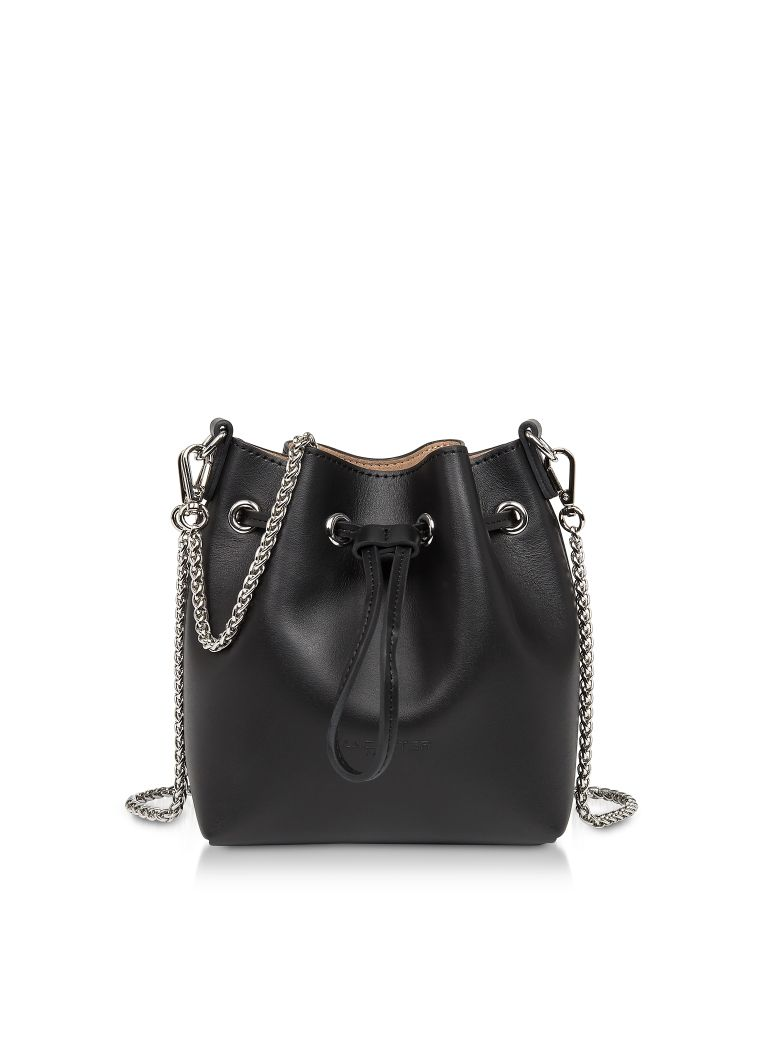 Lancaster Paris Treasure And Annae Leather Mini Bucket Bag - Black