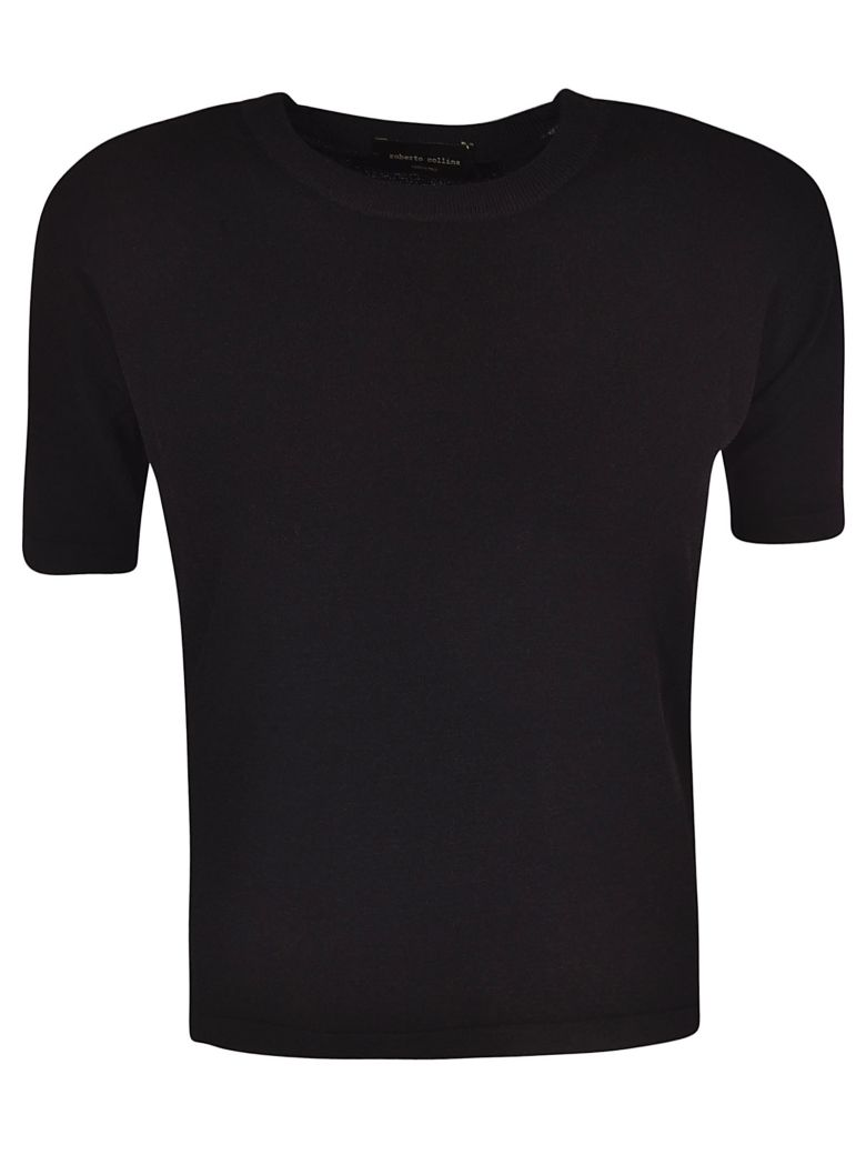 Roberto Collina Soft Knitted Top - Black